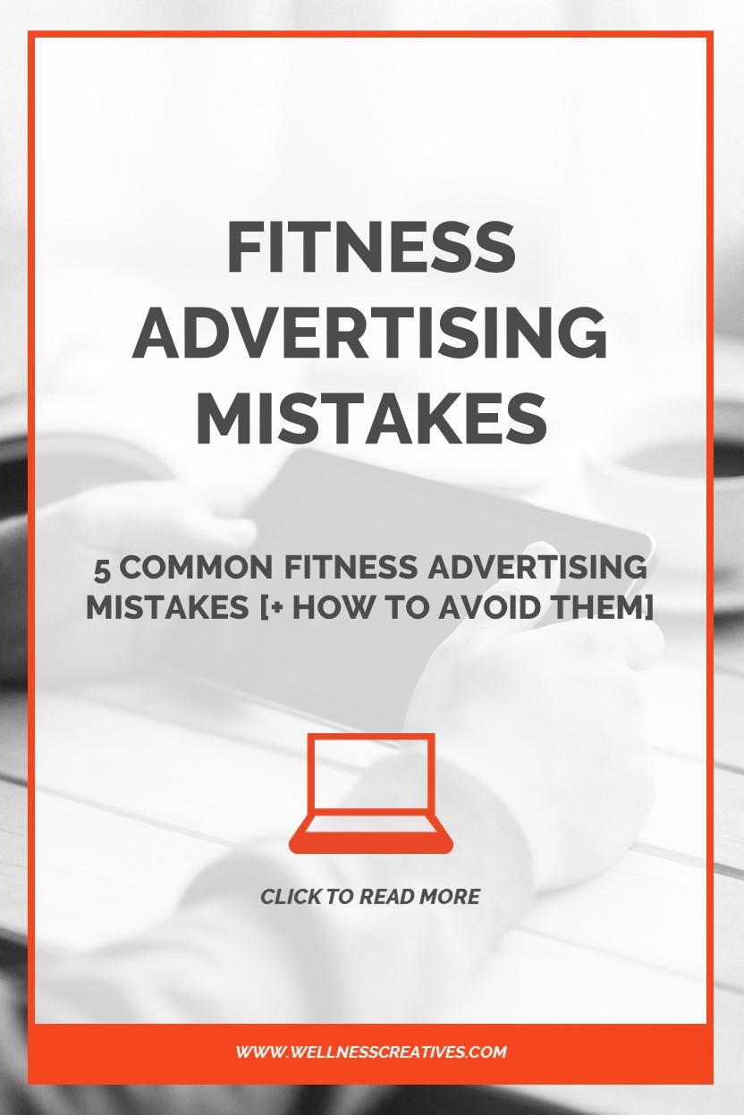 Fitness Advertising Mistakes Pinterest