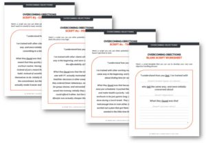 Objection Handling Script Template