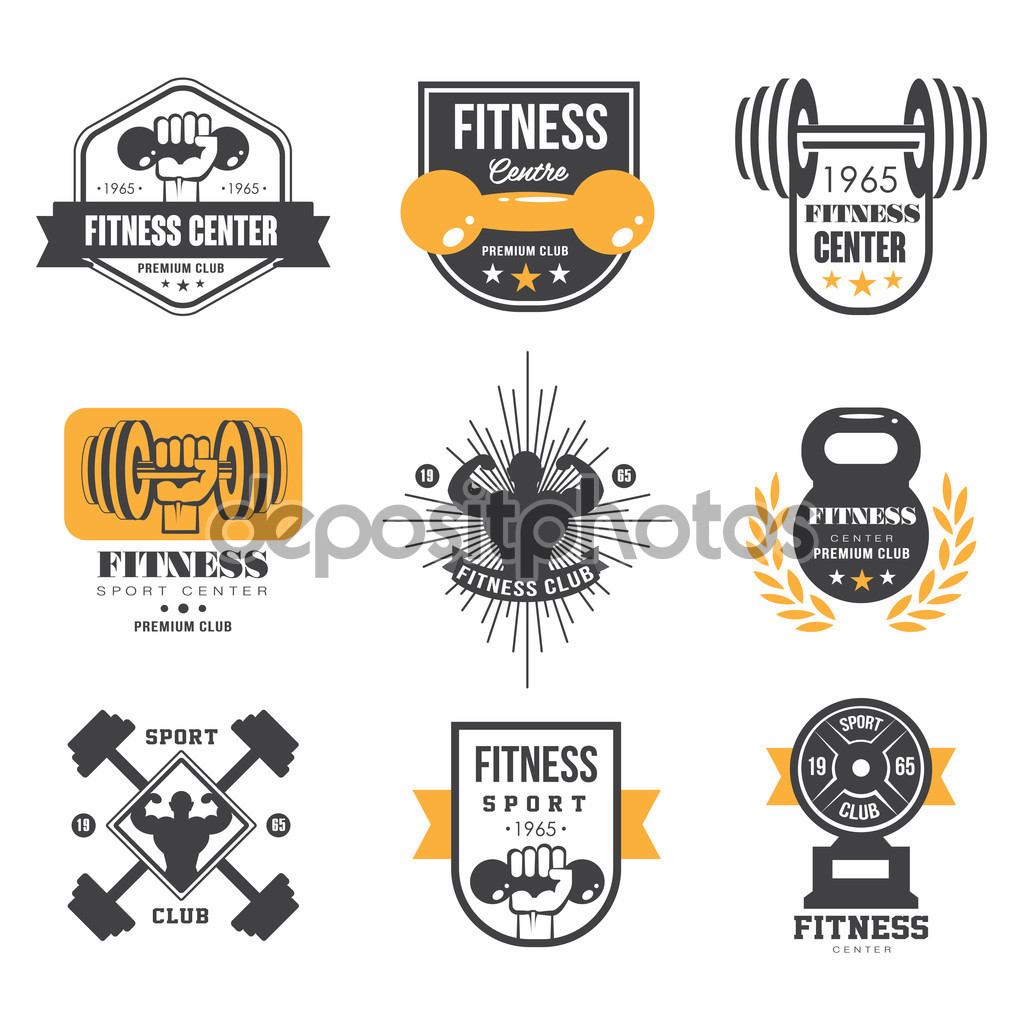dumbbell logo templates