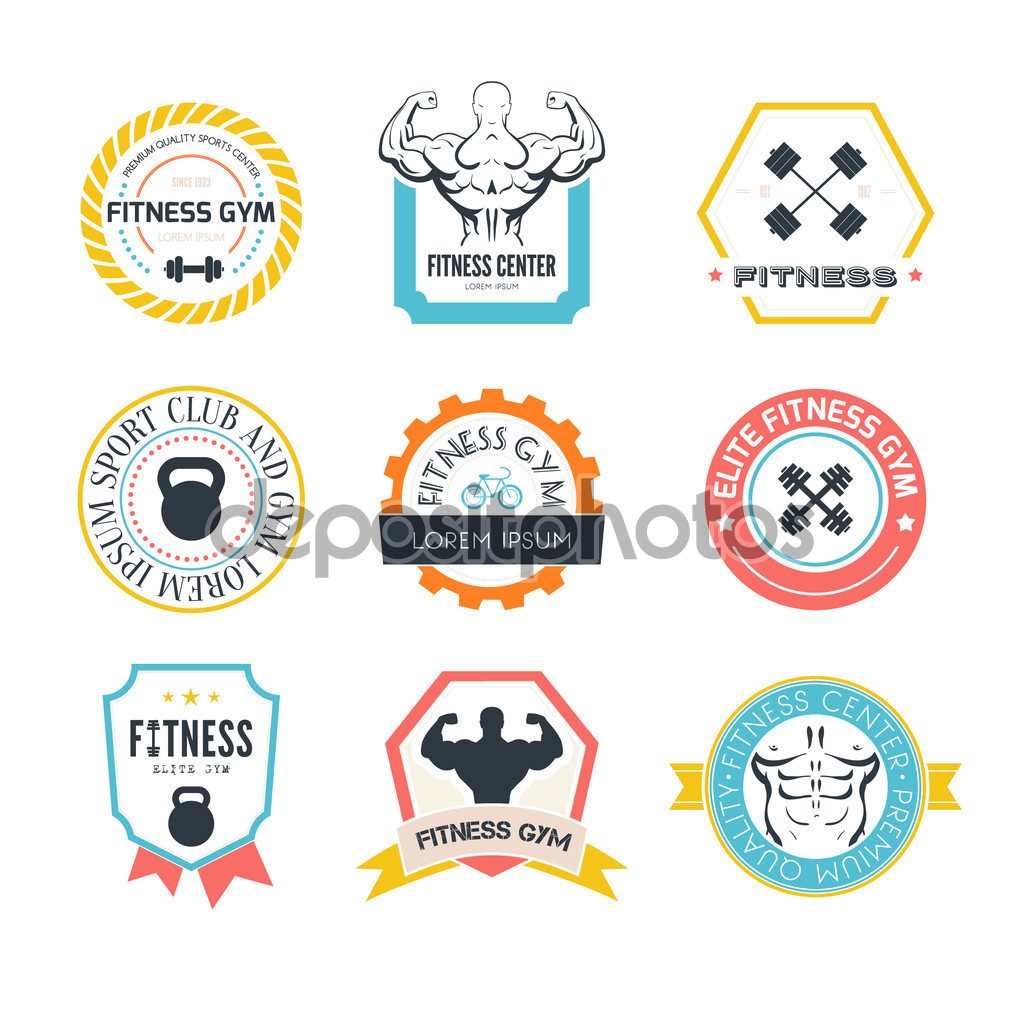 colourful gym logo ideas
