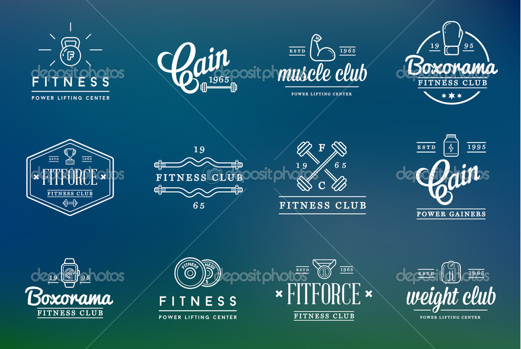 Stylish fitness logo templates