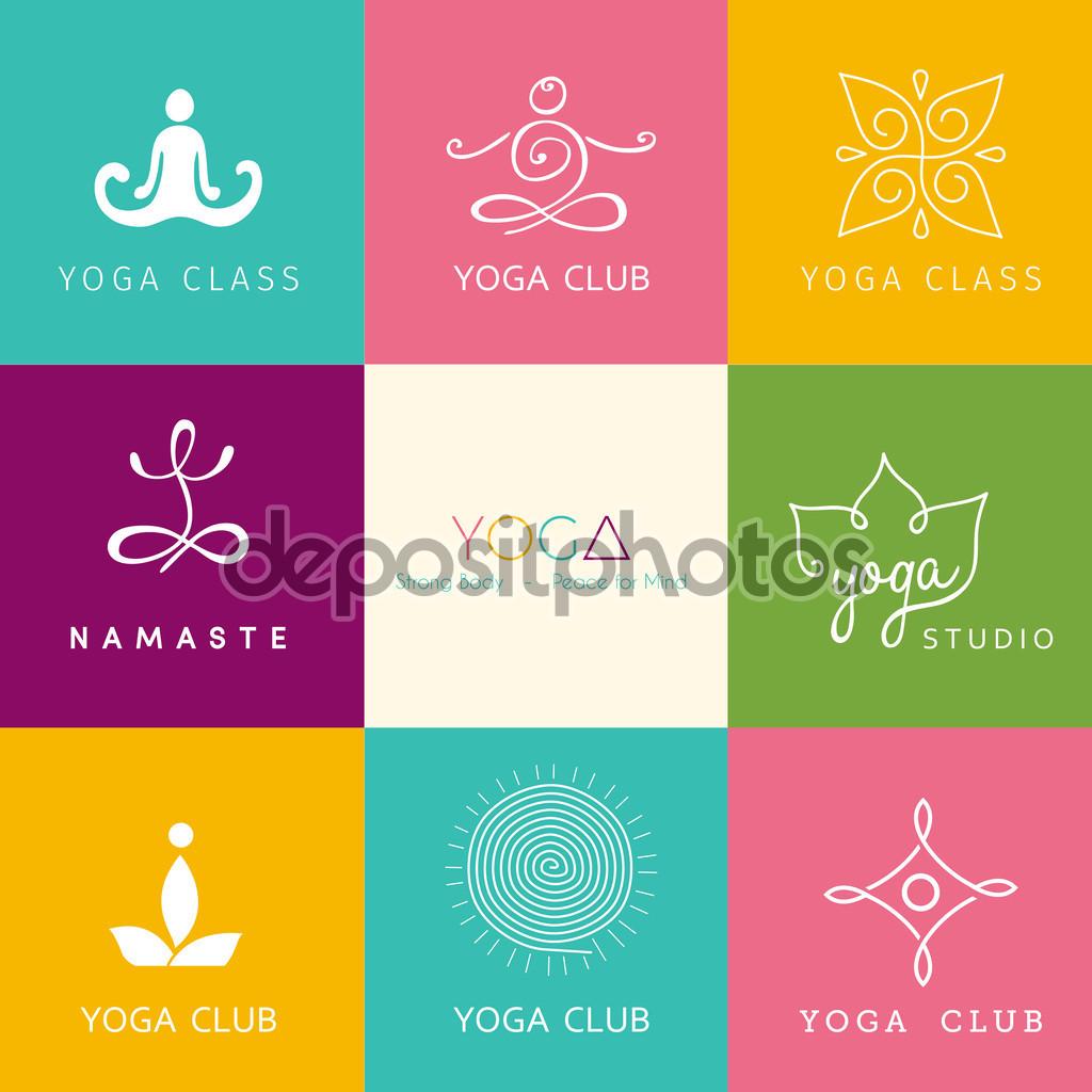 simple yoga logo ideas