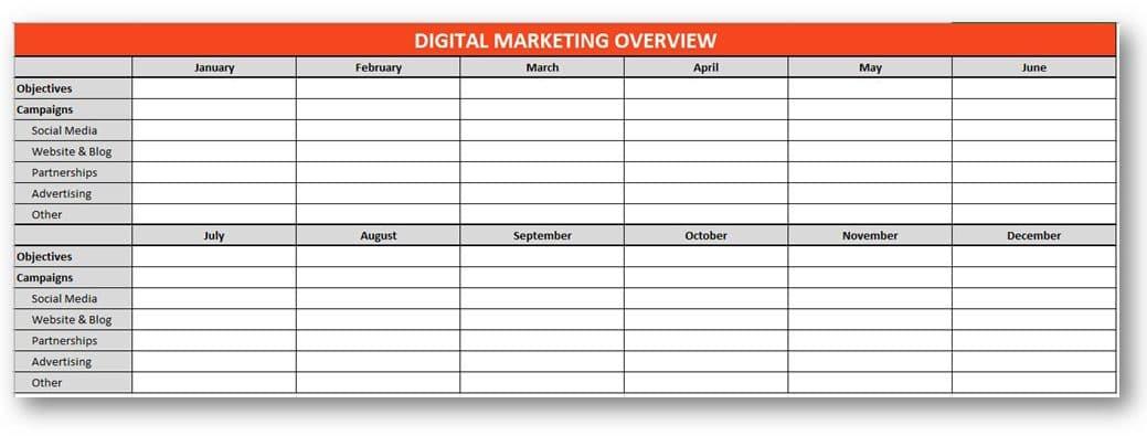 Fitness Marketing Calendar