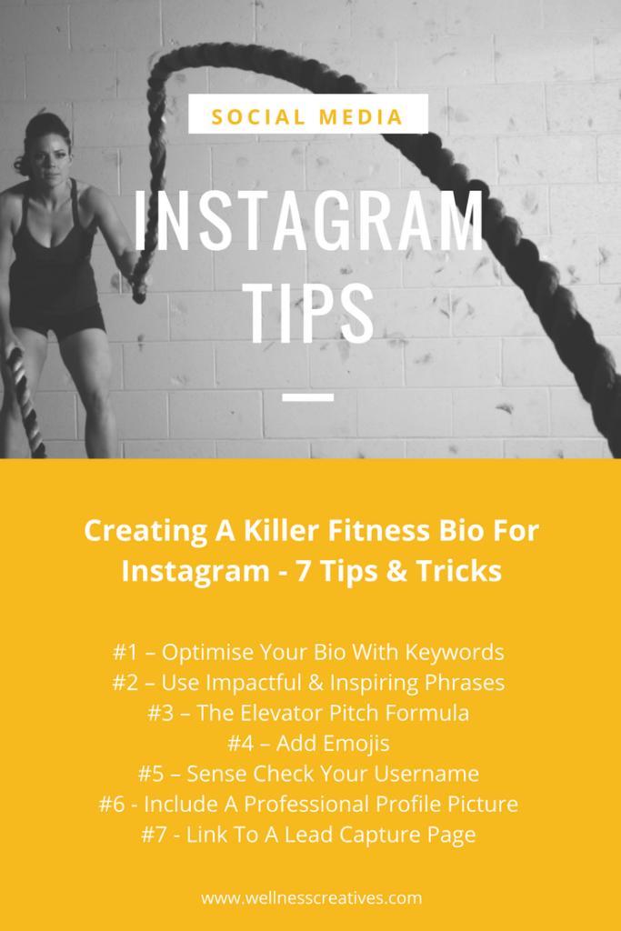 Fitness Bio For Instagram Tips List