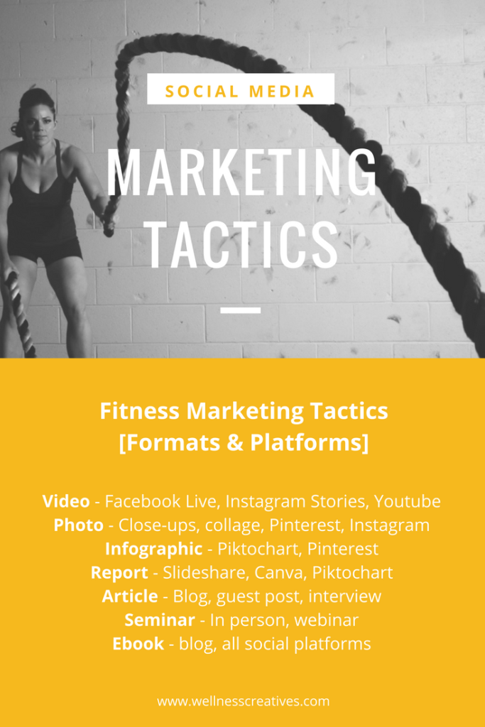 Fitness Marketing Strategies Format Ideas