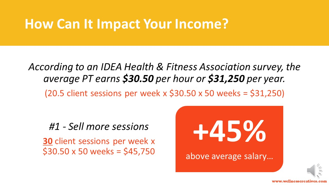 Personal Trainer Income - Clients Slide