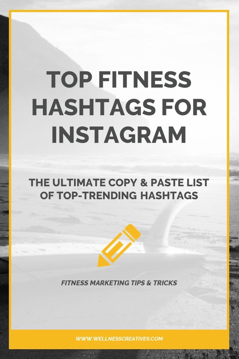 Top Fitness Hashtags Instagram Pinterest
