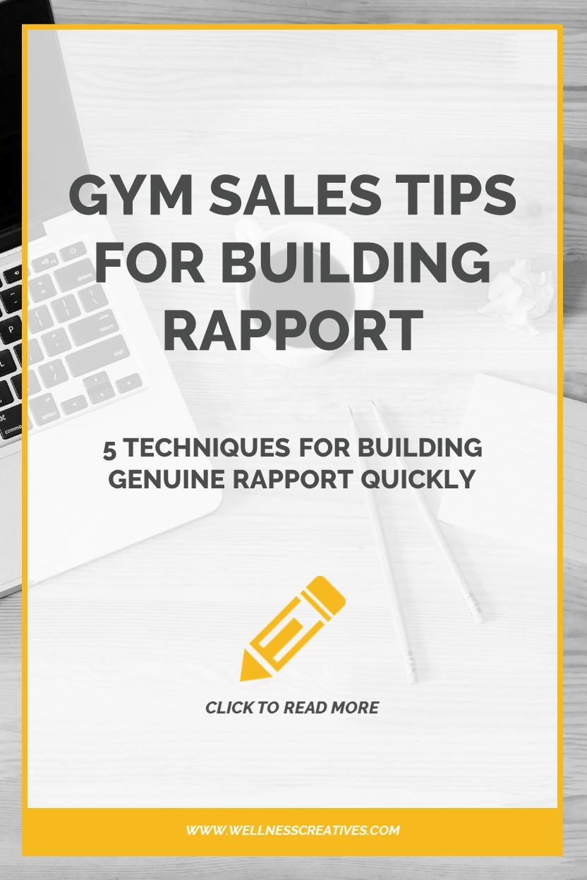 Gym Sales Tips Rapport Pinterest