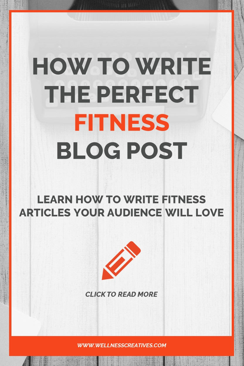 How To Write A Fitness Blog Pinterest