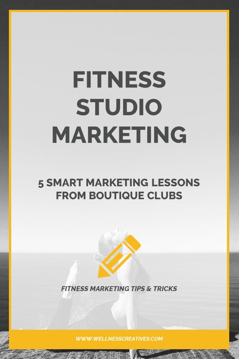 Fitness Studio Marketing Boutique Pinterest