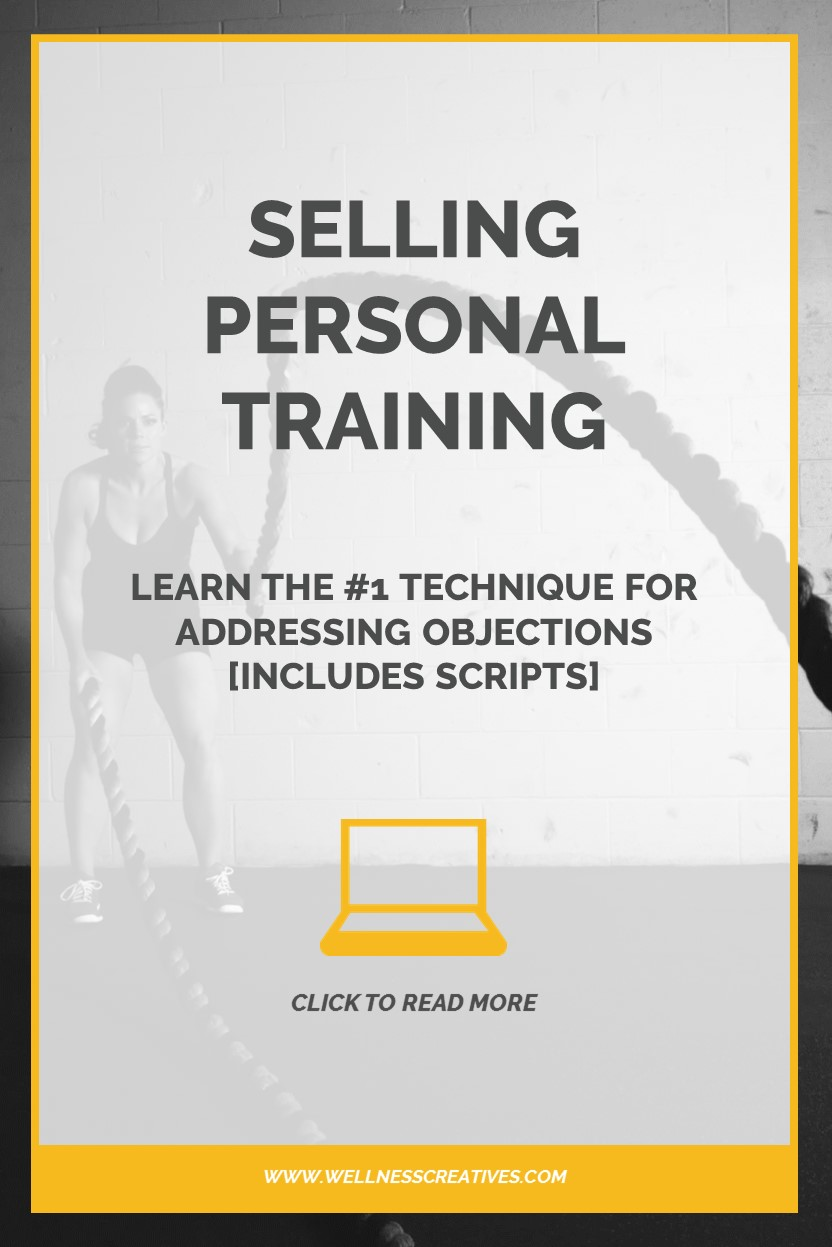 Selling Personal Training Objections Pinterest