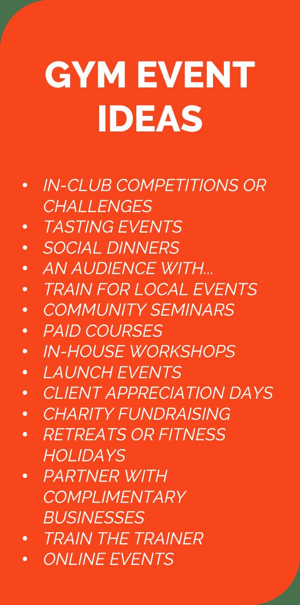 Gym Event Ideas List V2