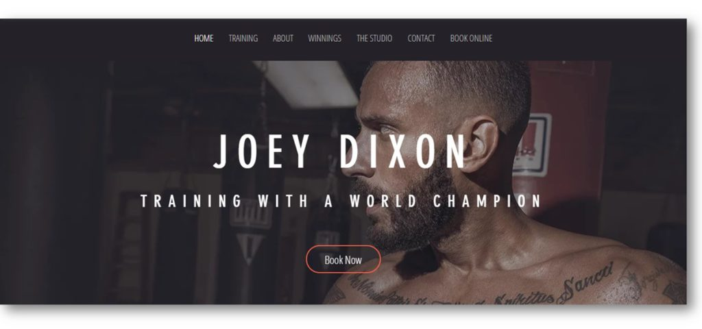 Wix Personal Trainer Template