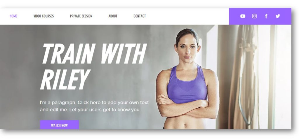 Wix Fitness Template