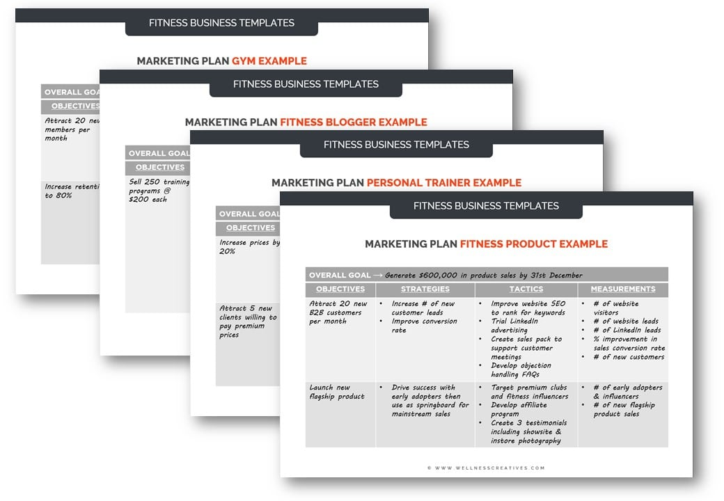 Gym Marketing Plan Template Bundle
