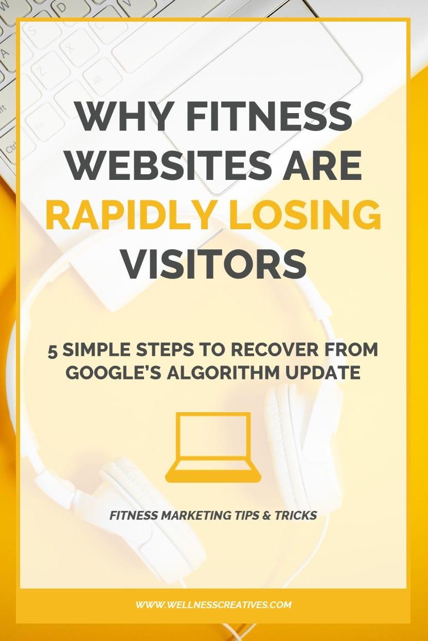 Losing Fitness Website Visitors Pinterest