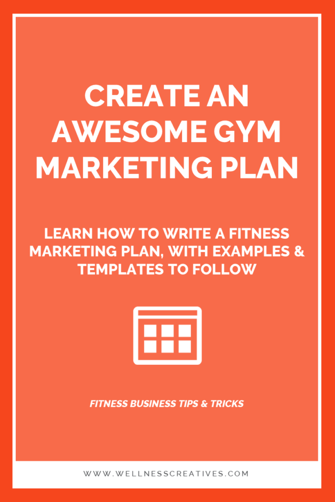 FItness Marketing Plan Template For Clubs Equipment