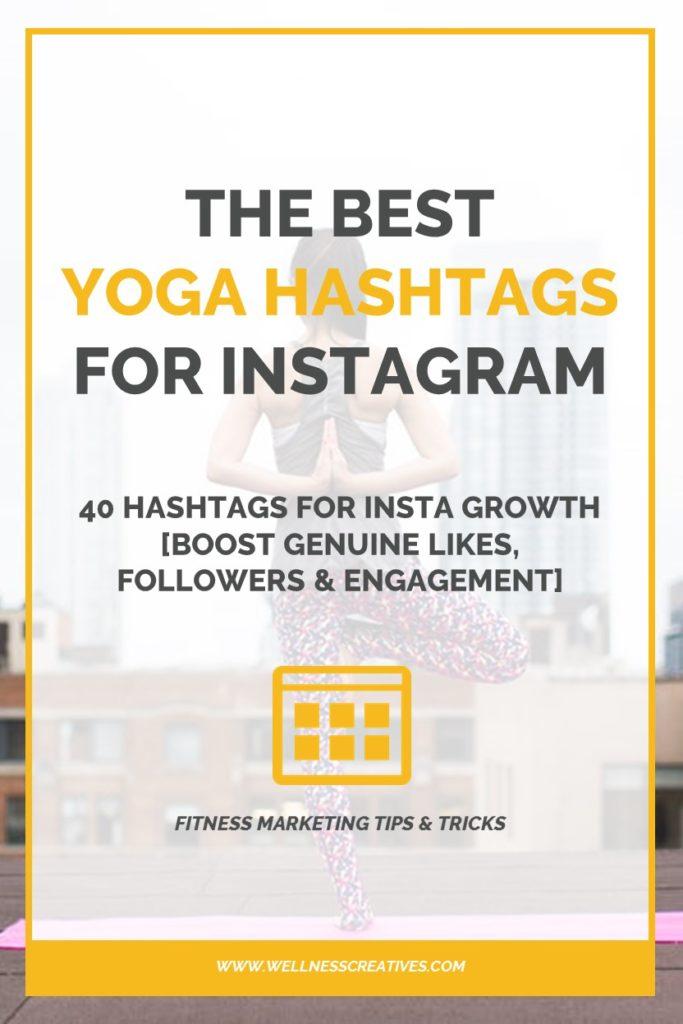 Best Yoga Hashtags Pinterest