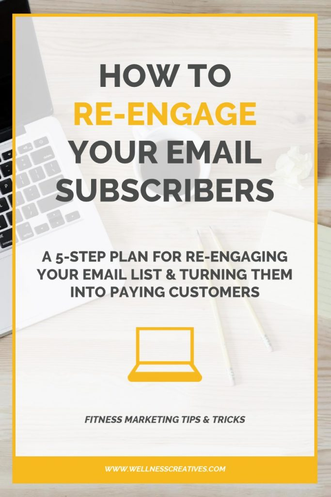 re-engage email subscribers Pinterest