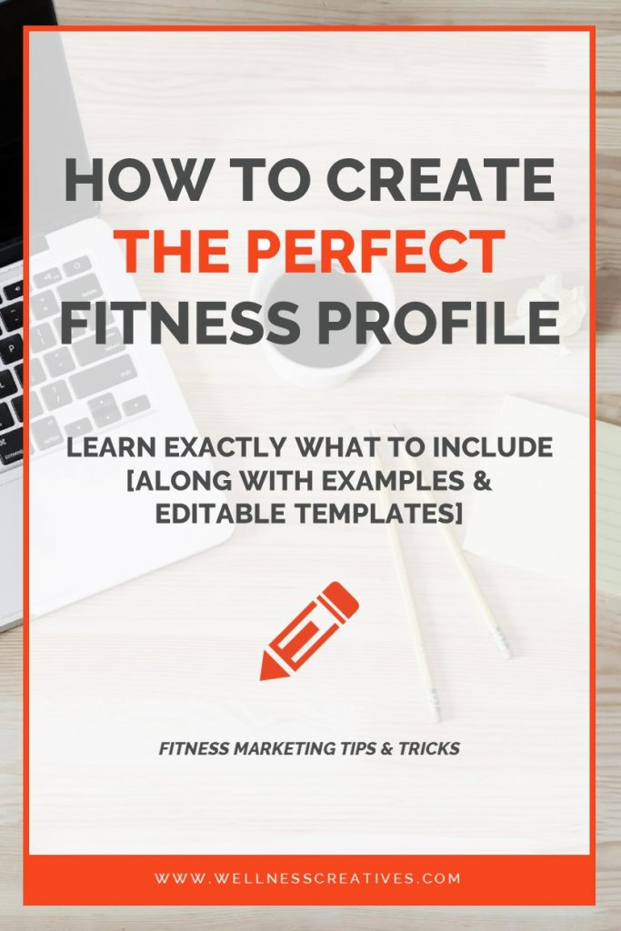 Personal Trainer Profile Template Pinterest