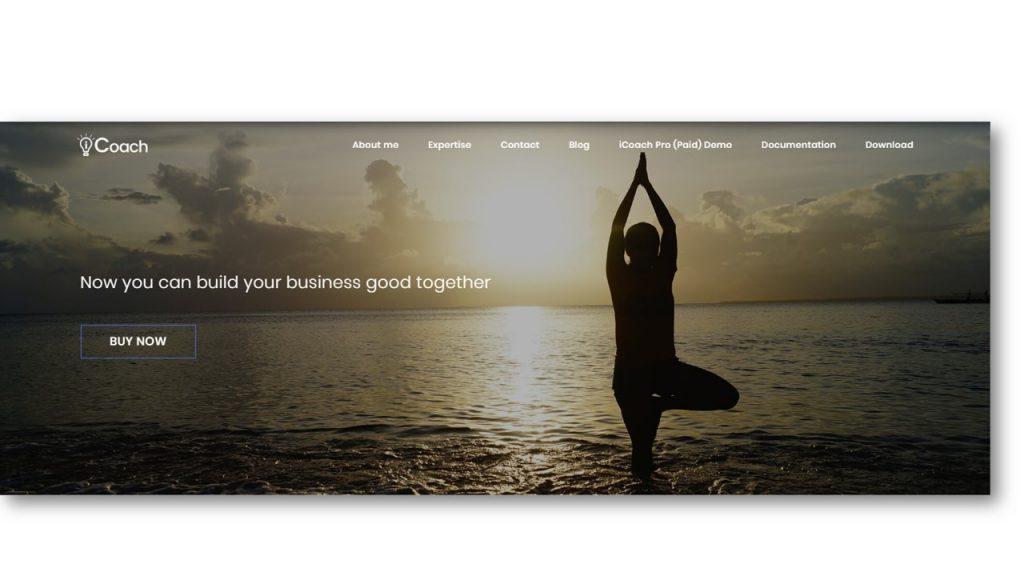 Free Yoga WordPress Template