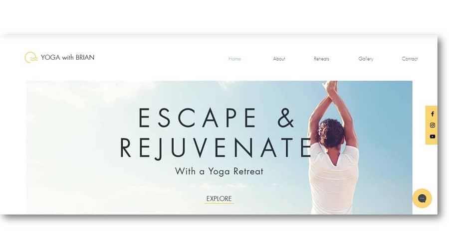 Yoga Retreat Website Template