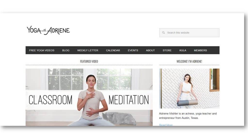 Yoga Teacher Website Example