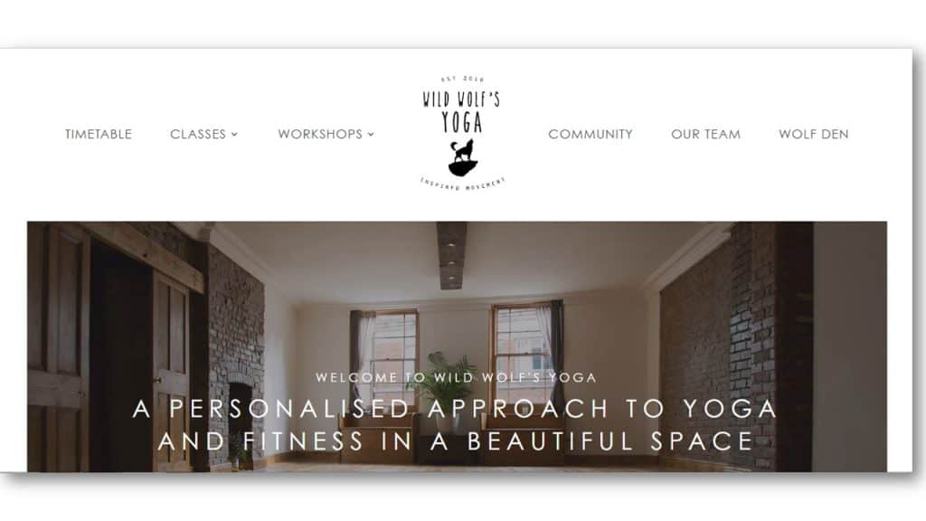 Yoga Web Design Ideas