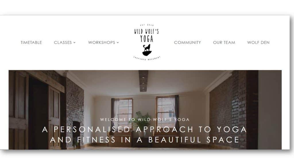 Yoga Web Design Ideas