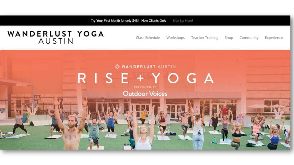 Yoga Website Example