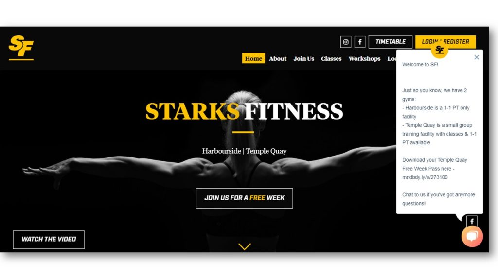 Gym Website Example
