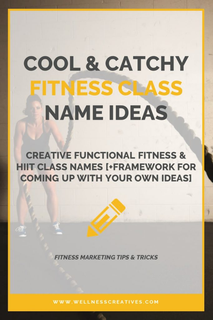 HIIT functional fitness class names Pinterest