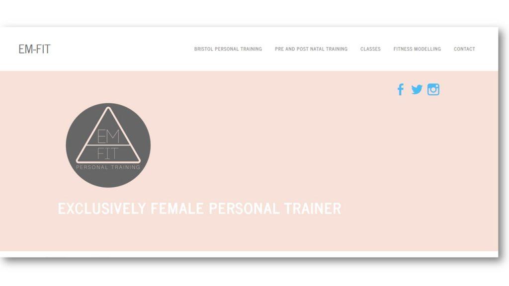 Personal Trainer Website Design Inspiration