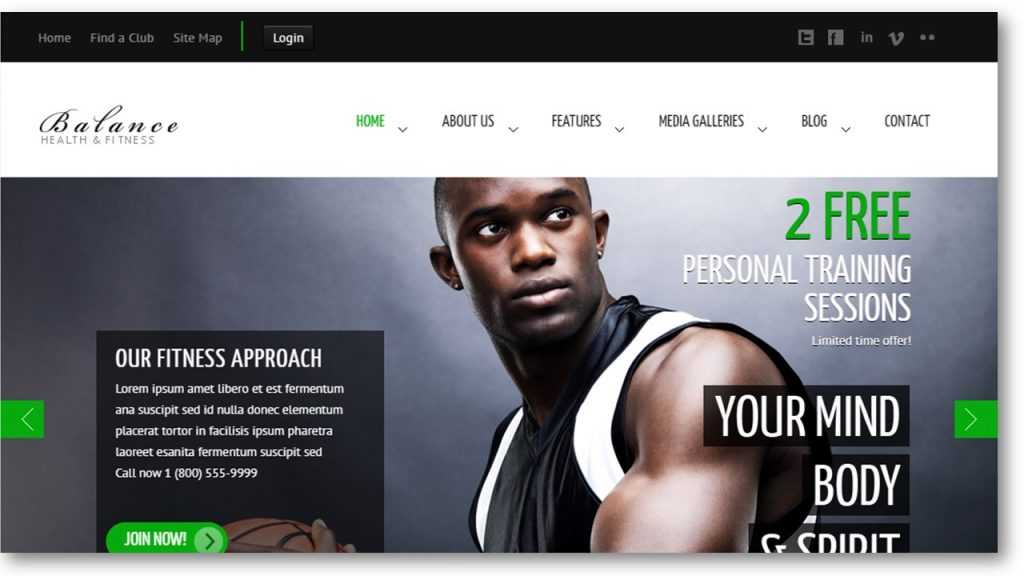 Personal trainer wordpress theme