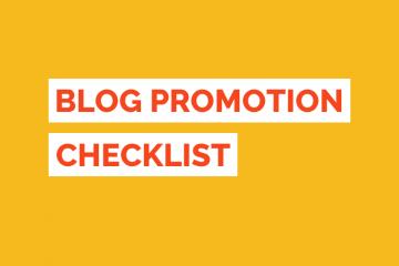 Blog Promotion Checklist