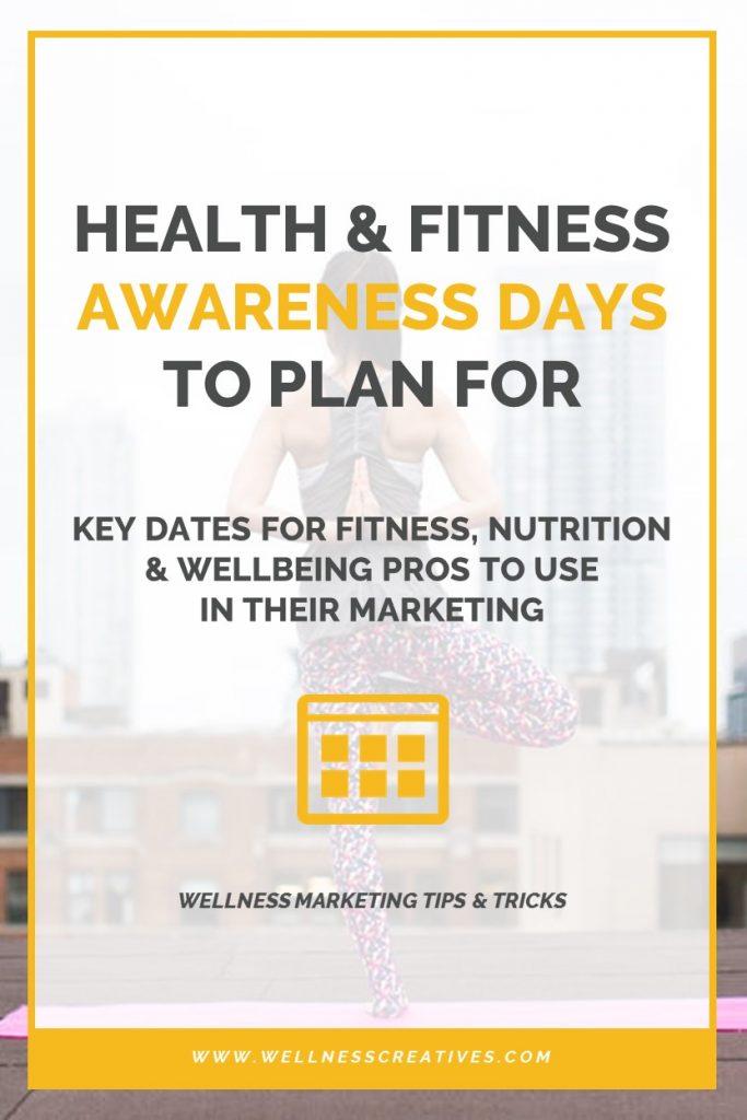 World Health Days Calendar Pinterest
