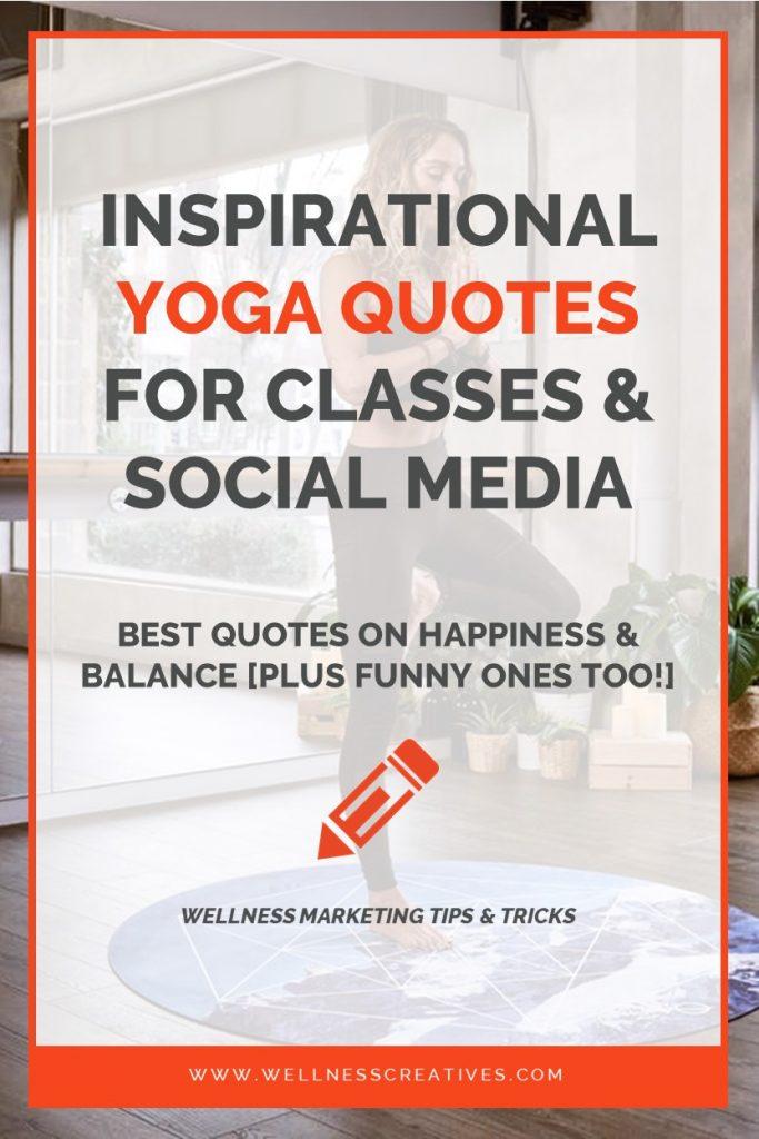 Yoga Quotes 40 Funny Inspirational Yoga Sayings