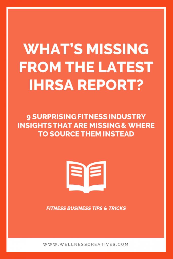 IHRSA Report Pinterest