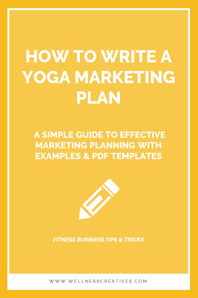 Yoga Marketing Plan PDF Template Examples