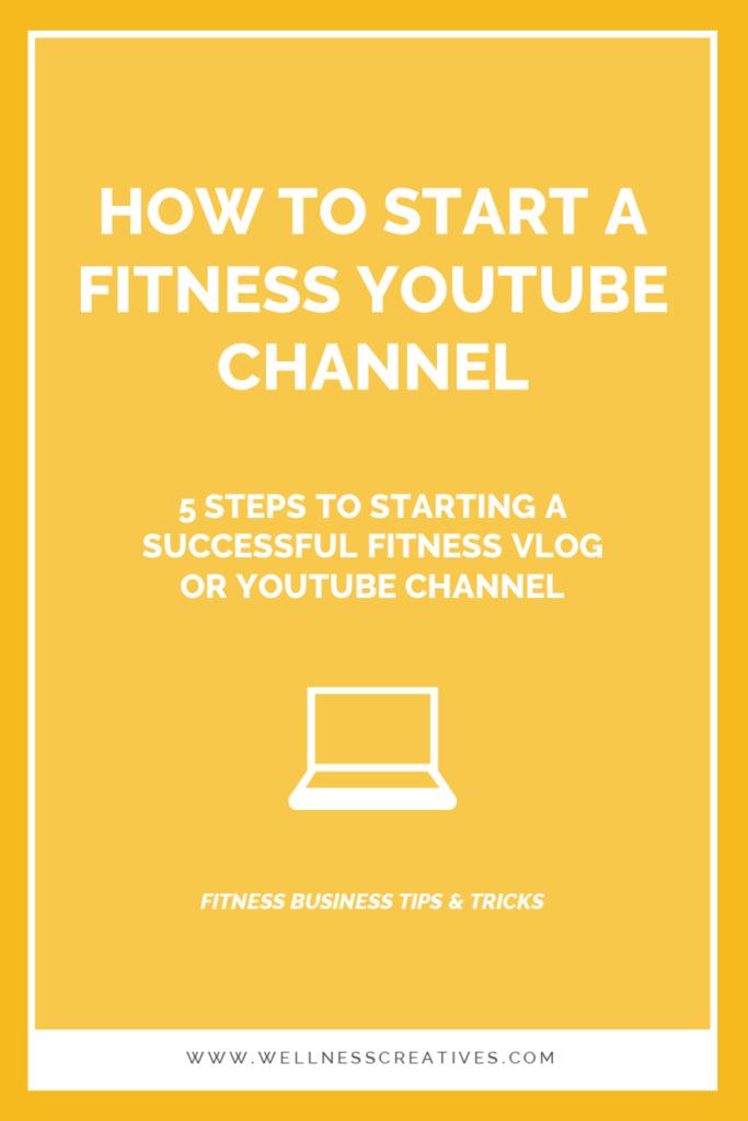 Start Fitness Vlog Youtube Channel
