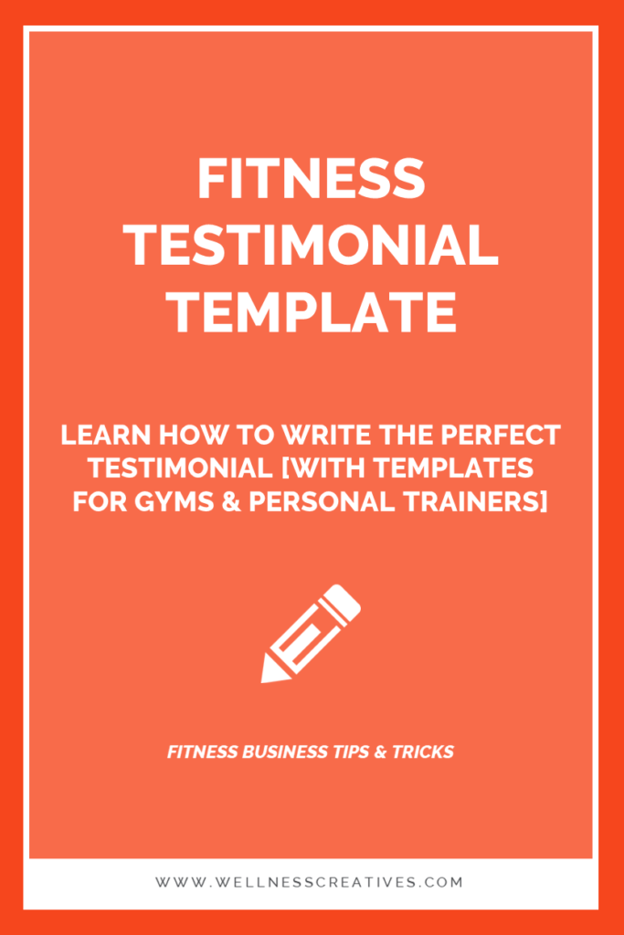 Fitness Testimonial Templates For Gyms Personal Trainers