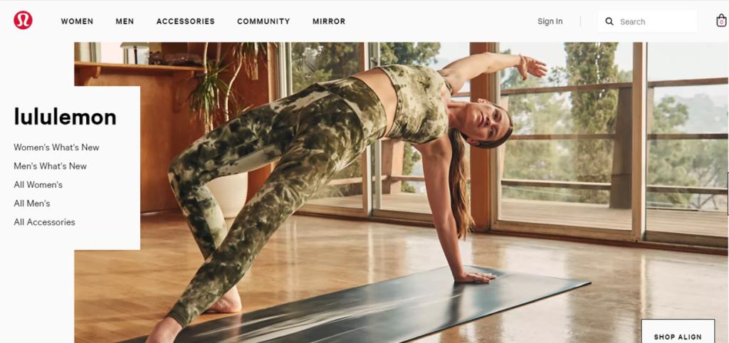 Lululemon Yoga Branding