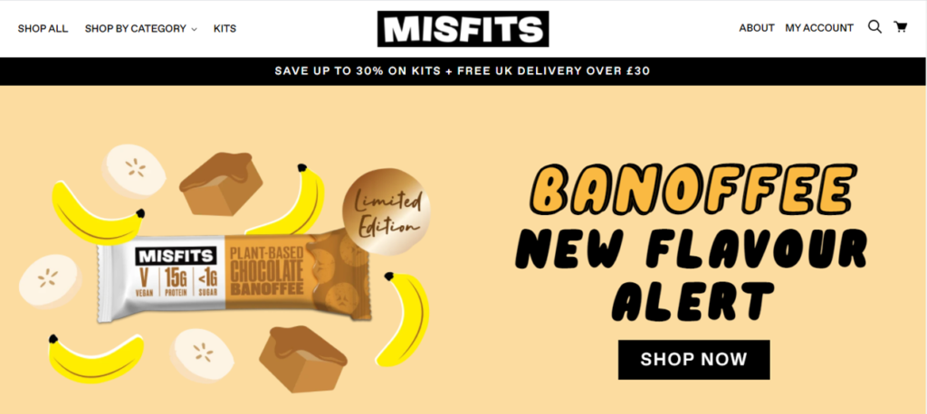 Misfits Nutritional Supplements Example