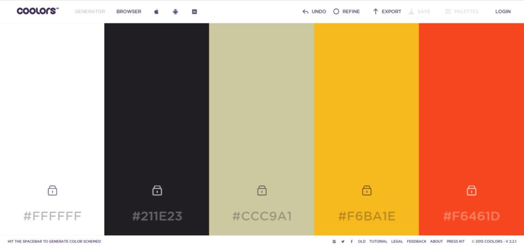 Wellness Creatives Colour Palette